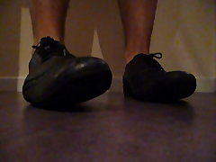 Leather shoes play