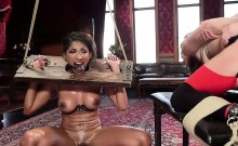 Slaves with hot asses fucked and whipped