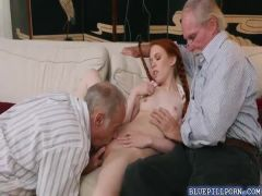 Petite redhead Dolly Little drilled in her pussy