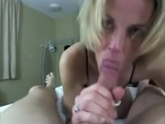 delicious mature lady and this babe is able to deepthroat him