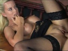 MILF on sex party in a bar