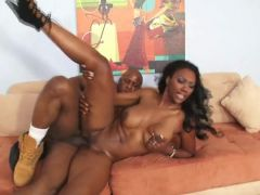 Ebony ass is stunning in a doggystyle fuck