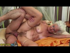 Good looking grandma having sex with a young stud  HD
