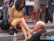 Public Foot Worship In NYC