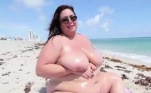 Fat skank sunbathing nude