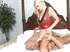 A Blonde Gets Pussy-licked Hard By A Guy With Erect Cock
