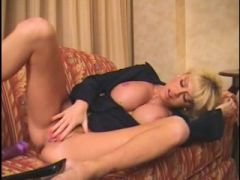 Sexy golden-haired Mother I\'d Like To Fuck finger and squirt