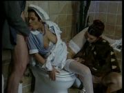 nice threesome on  toilet