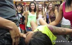 Group of nasty babes parting in tattoo shop Porn Videos