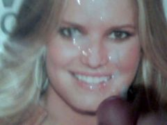 Cum tribute Jessica Simpson face