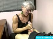 Granny milf with glasses passionate bj