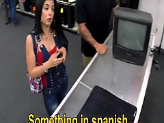 Hot and busty Cuban woman poked by the pawnkeeper