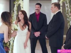Boobylicious bride Angela sucks Charles cock