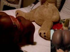 African naked babe taking white cock deep in her pussy