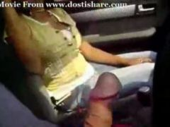 Hand job in a car