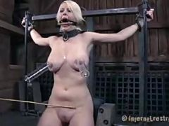 Cherry torn\'s tits and pussy torments