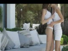 very hungry lesbians licking action