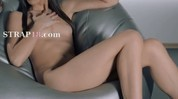 Babes in pantyhose penetrate with strap on
