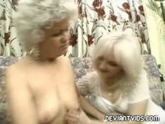Smoking hot blonde dominated by two huge cocks