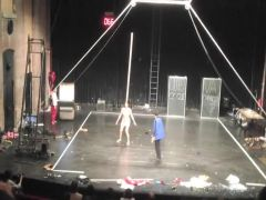 Naked on Stage 105 Magdalena Leite Nudes On The Circus