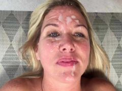 So peaceful with cum in her face