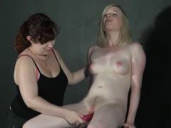 Erotic domination of lesbo submissive inside porn toy