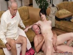 Old guy having sex with young and college girl man