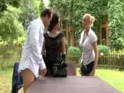 Clothed classy glamour ffm threesome hard fuck