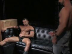 In room porn for leather muscle