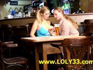 Horny lovers fucking in a closed pub