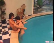Poolside threesome 2/4