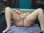 Oiled Up Woman Masturbates With A Dildo