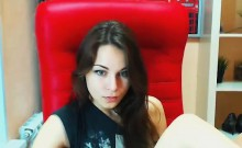 Beautiful brunette webcam masturbation