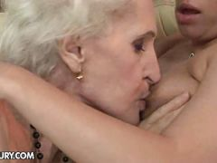 Pussy licking granny