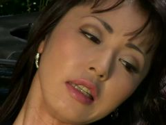 Diminutive Oriental Squirts Outdoors