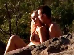 Hot Couples In A Hill Squuezing Kissing And Hugging