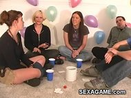 Drinking and playing truth or dare games
