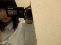 Asian teen on self shot video has great orgasm