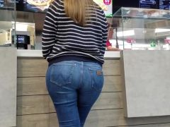 Near hot babe with big ass