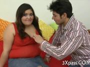 Sexy fattie picked up and groped