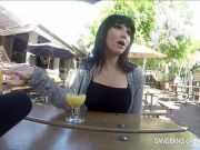 Gangbang MILF takes 7 creampies then pushes the cum out of her pussy into a glass and drinks the cum
