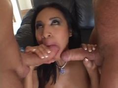 Asian wife double fuck video with nice blowjob