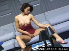 Sylvia caressing and anal masturbating