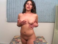 Latina Sexpot Shows Off Her Puffy Pussy