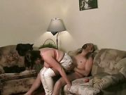 Silver Slip Fully Clothed Sex