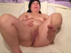 Mature wife rubbing herself for her hubby