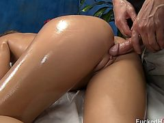 ABBY oiled massaged and fucked
