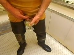 nlboots - transparent rubber underclothing rubber waders void urine