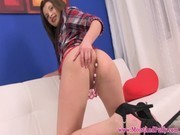 Juicy cherry brunettes analbeads action