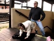 Teen Girl Fucked At Train Station